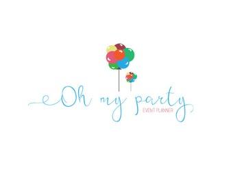Premade custom event planner logo design-Premade photography logo-Premade kid logo-Party planner logo design-Small business party logo