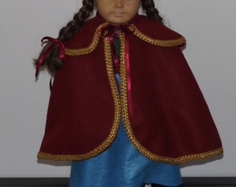 Anna from Frozen Outfit - fits American Girl and other 18 inch dolls
