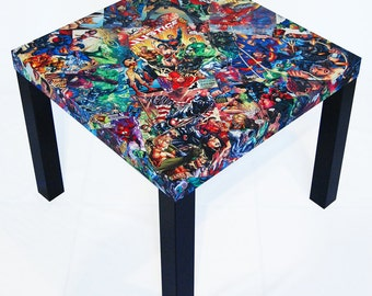 Justice League Variant Comic Collage Table