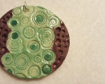 Circles ceramic pendant