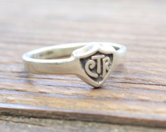 Sterling Silver CTR Ring  //  Size 8.5