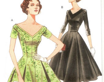 Dress pattern with yoke neckline -- Vintage Vogue 2903 -- REISSUE