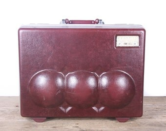 Vintage Double Bowling Ball Case / Master Elite Hard Shell Bowling Ball Case / Old Bowling Ball Bag / Retro Bowling Bag / Two Ball Bowling