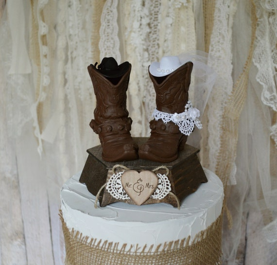 boot wedding cake topper mr and mrs cowboy boots wedding cake topper and groom 12096