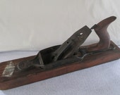 Wood Plane, Vintage, Original Condition, Hand Woodworking Tool, Carpentry, Rustic Farm Ranch Man Cave Decor