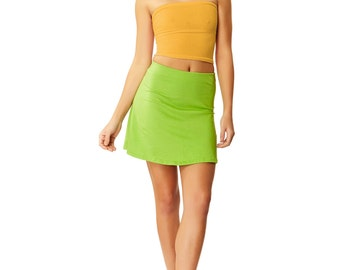 Stay Golden Yellow Basic Tube Top X American Deadstock