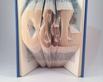 Initials folded book - Block Font