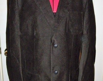 Vintage Men's Brown Corduroy Sport Coat Blazer by Perry Ellis 40 R Only 14 USD