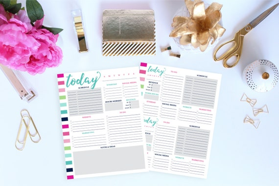 Daily Business Planner, Small Business Planner, Daily Schedule Planner, Daily Planner Printable Pages, Planner Inserts, Letter Size Planner