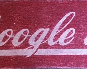 Google It, Vintage Sign on Wood 12x4