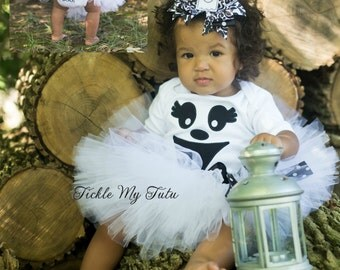 Greta the Ghost Tutu Halloween Costume-Baby Girl Ghost Costume-Ghost Tutu Costume-My First Halloween Outfit *Bow NOT Included*