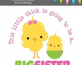 Big Sister Digital Iron On - Big Sister Digital Sticker Design - Pregnancy Announcement - Digital Tshirt Design - Digital Sticker Design