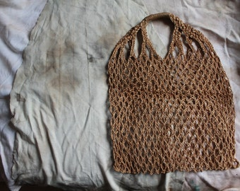 Vintage handmade hemp bag Bohemian, Hippie