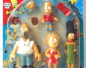 Simpsons Rare Bootleg Action Figures, Animated, Mint in Package, 1994, Bart Simpson