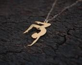 Gold Gymnastics Necklace , Dancer Necklaces , Girl Gymnast , Dancer Gift