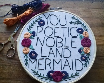 You Poetic Noble Land Mermaid