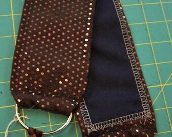"""DIY Belt Base- 38"""" Brown and Copper Sparkle Suede Bellydance Bedlah Costume"""