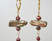 639-Connie Biwa & Freshwater Pearl Earrings