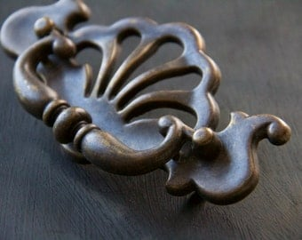 Vintage Chippendale Federalist Drop Bail Drawer Pull Cabinet Handle