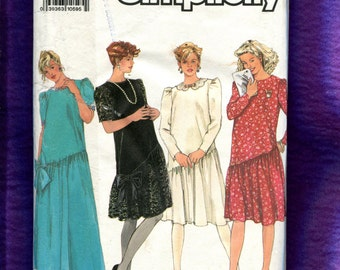 Simplicity 9930 Maternity Evening & Day Dresses Size 16 to 24 UNCUT