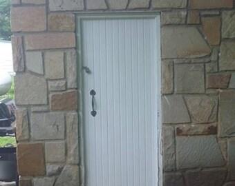 Hand Forged Red Bud Door Pull, Door Hardware, Blacksmith Made