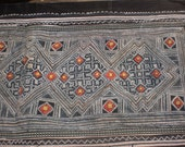 RESERVED FOR AKOSUA   Hmong Vintage Textile, Tribal Indigo Batik,  Hand Dyed, Embroidered Folk Art