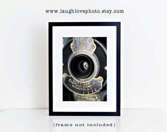 Kodak Aperature Photo, Macro Photography, Vintage Retro Camera Print, Abstract Eastman Geekery Collectible Home Office Decor Wall Art