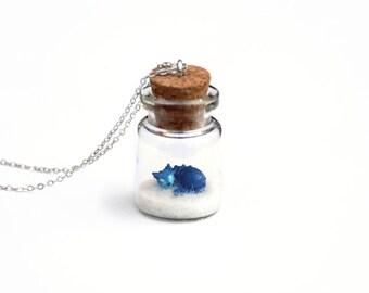 Skoll Necklace, World of Warcraft Fantasy Terrarium Necklace, Keychain, Geek Gift, Gamer Gift, Nerd Gift; 16 inch chain