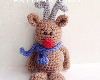 Crochet Amigurumi Reindeer Christmas Gift Pattern