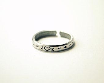 SALE In Love Arrowhead Stacker Ring