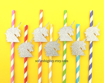 Unicorn Rainbow Straws-Unicorn straws,unicorn birthday, unicorn party, unicorn, rainbow straws, rainbow birthday, rainbow party
