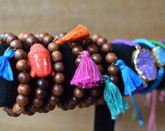 Wood Bracelet Tassel