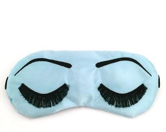 Holly Golightly sleeping eye mask LIGHT BLUE and BLACK