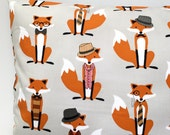 Grey fox cushion fox pillow woodland cushion woodland pillow kids cushion kids pillow boys girls gray cushion childrens cushion hipster