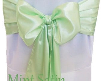 Chair Sashes Mint Green 100 Wedding Chair Sashes Chair Bows Satin Pew Bows Party Bows Event