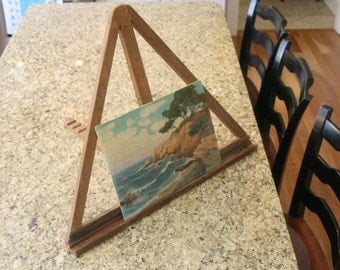 Vintage Artist's Easel Primitive Table Top Wooden Collapsible Painters Art Display Menu Board Shop Sign Photos Rustic Wedding Decor Gallery