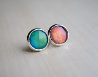 Mood Earrings -- Mood Jewelry -- Color Change -- Throwback -- 90s -- Boho Chic -- Handmade -- Mood Stones -- 70s