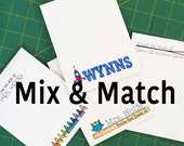 Mix & Match Notepads - Set of FOUR- Teacher, kid,  Mom Notepads