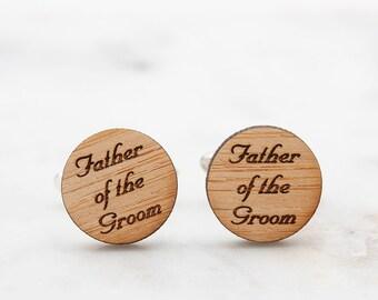 Father of the Groom Cufflinks  - Father of the Bride Cufflinks - Wedding Cufflinks - Set of 2 Pairs of Cufflinks for FOG FOB