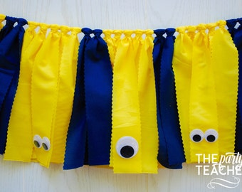 Minions Fabric Bunting - FREE Shipping - Minions Fabric Garland - Minions Bunting - Minions Banner - Minions Party - Minions Party Decor