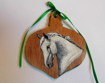 Custom Pet Ornament, Hand Painted Wood