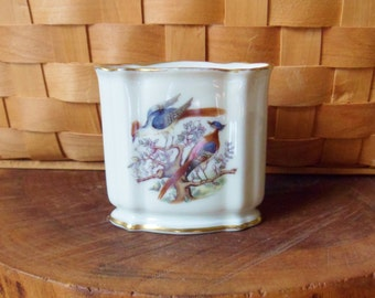 German Cigarette Holder, Rosenthal Table Cigarette Holder, Tabletop Bird Cigarette Server