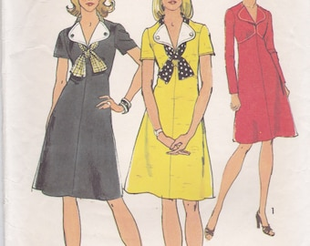 Adorable 70s Dress Pattern Simplicity 6212 Size 12