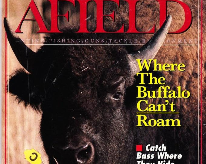 Vintage Sports Afield Magazine June 1991, Hunting, Fishing, Articles, Angler, Buffalo, Great Outdoors, Bass, Varmints, Rifles, Guns, Reel