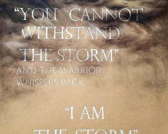 Warrior-Inspirational quote print- 11 x 14 art print