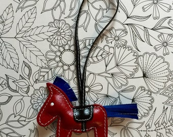 Leather pony tags & charms