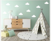 Cloud Wall Decals Vinyl Clouds Small Fluffy Cloud Decals Peel and Stick Vinyl Clouds Cute Trendy modern Nursery Decals Modern Nursery Vinyl