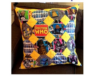 Quilted Big Hero Pillow Cover - PDF pattern - Snowball Block