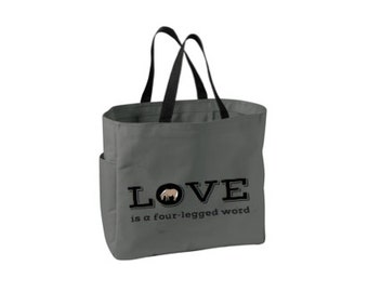 SALE Shipping Included - Pony Tote Carry All (Steel)