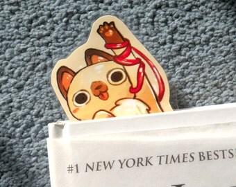 Cat & String Bookmark, Illustrated bookmark,  unique bookmarks